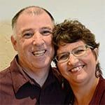 Minette Riordan and Brad Dobson