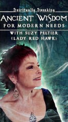 Suzy Peltier, also known as Lady Red Hawk