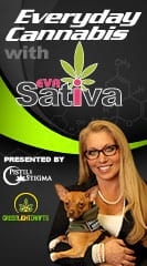 "Eva ""Sativa"" Losey-Grossman with Co-Hosts Katie Reiter and Rebecca Gasca"