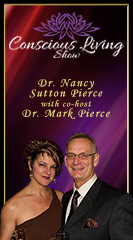 Dr. Nancy Sutton Pierce with co-host, Dr. Mark Pierce